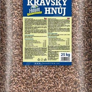 Kravský hnoj granulovaný Hoštice 25 kg