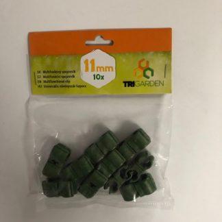 Multifunkčný spojovník na tyče 11mm/10 kusov zelená