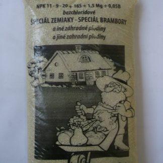 Špeciál na zemiaky bez chloridové NPK 11 – 9- 20+ 16S+1,5Mg+0,05B
