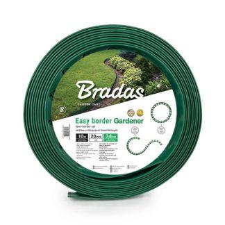 Plastový okraj trávnika set 10m x 3,8 cm, zelený BRADAS