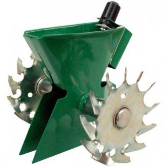 Sejací strojček kovový