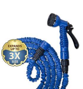 Hadica záhradná zmršťovacia 7m-22 m, pištol multifunkčná modrá BRADAS