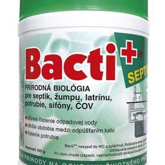 Bacti+ Prírodná biológia pre septiky, žumpy, ČOV, latrínu, potrubie, sifóny a iné. 500 g