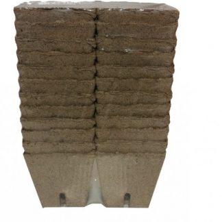 Rašelinové črepníky hranaté 8×8 cm/24 kusov
